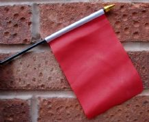 HAND WAVING FLAG (SMALL) - Plain Red